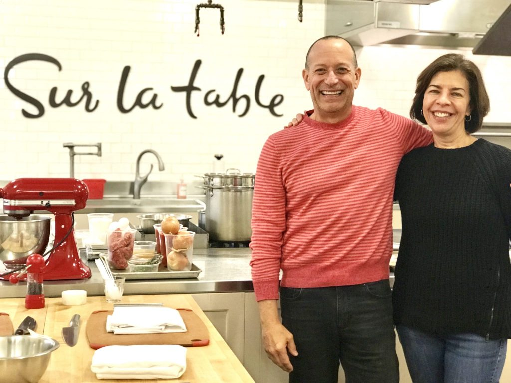cooking class couple at Sur la Table