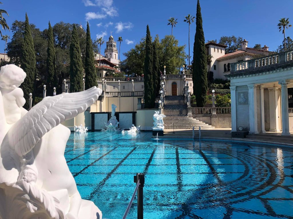 outdoor swimming pool Hearst Castle