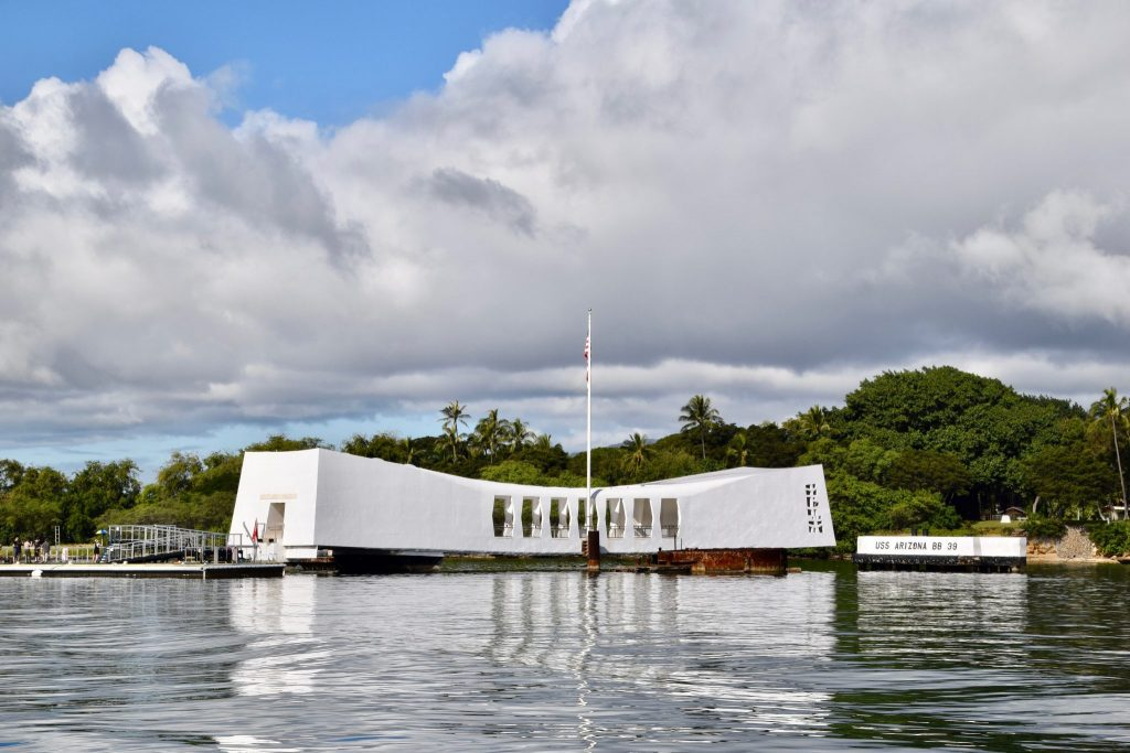 USS Arizona Memorial at Pearl Harbor Honolulu Hawaii