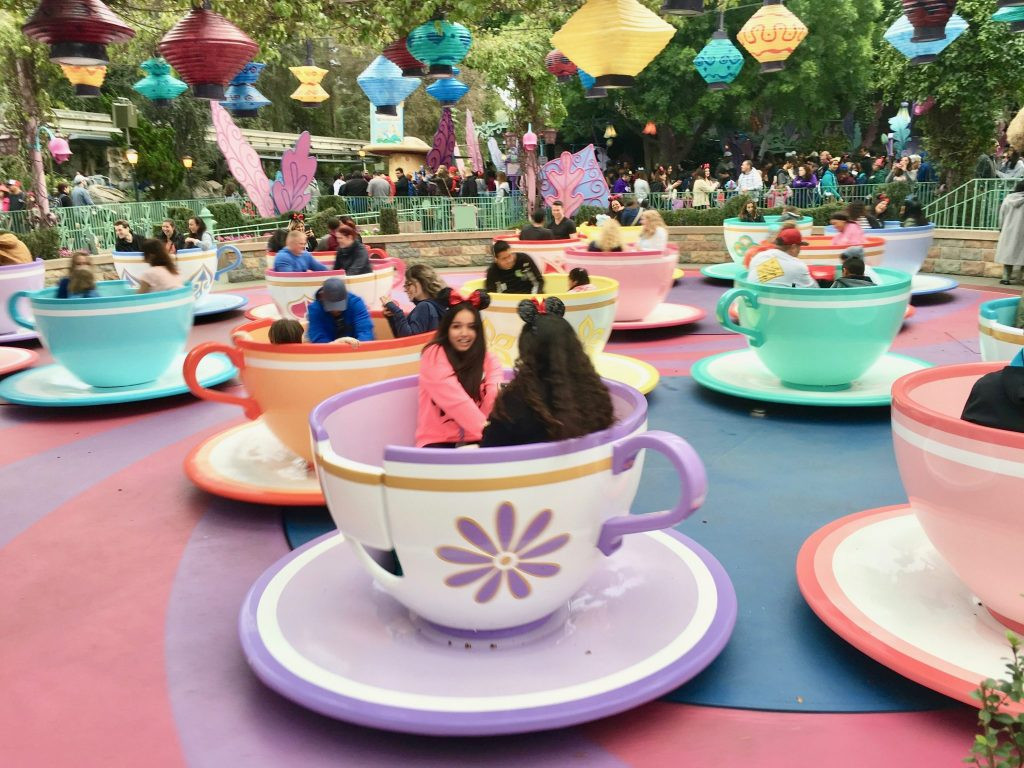 tea cup ride Disneyland