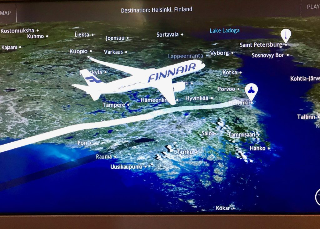 location map Finnair Airbus A350