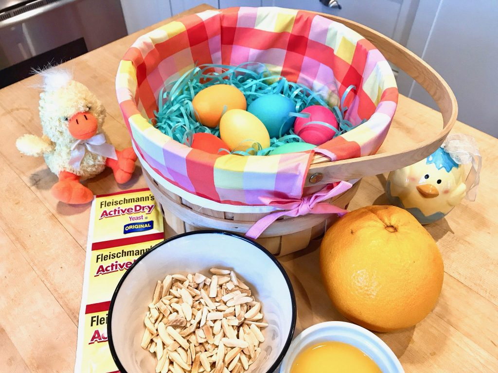 Italian Easter Bread ingredients