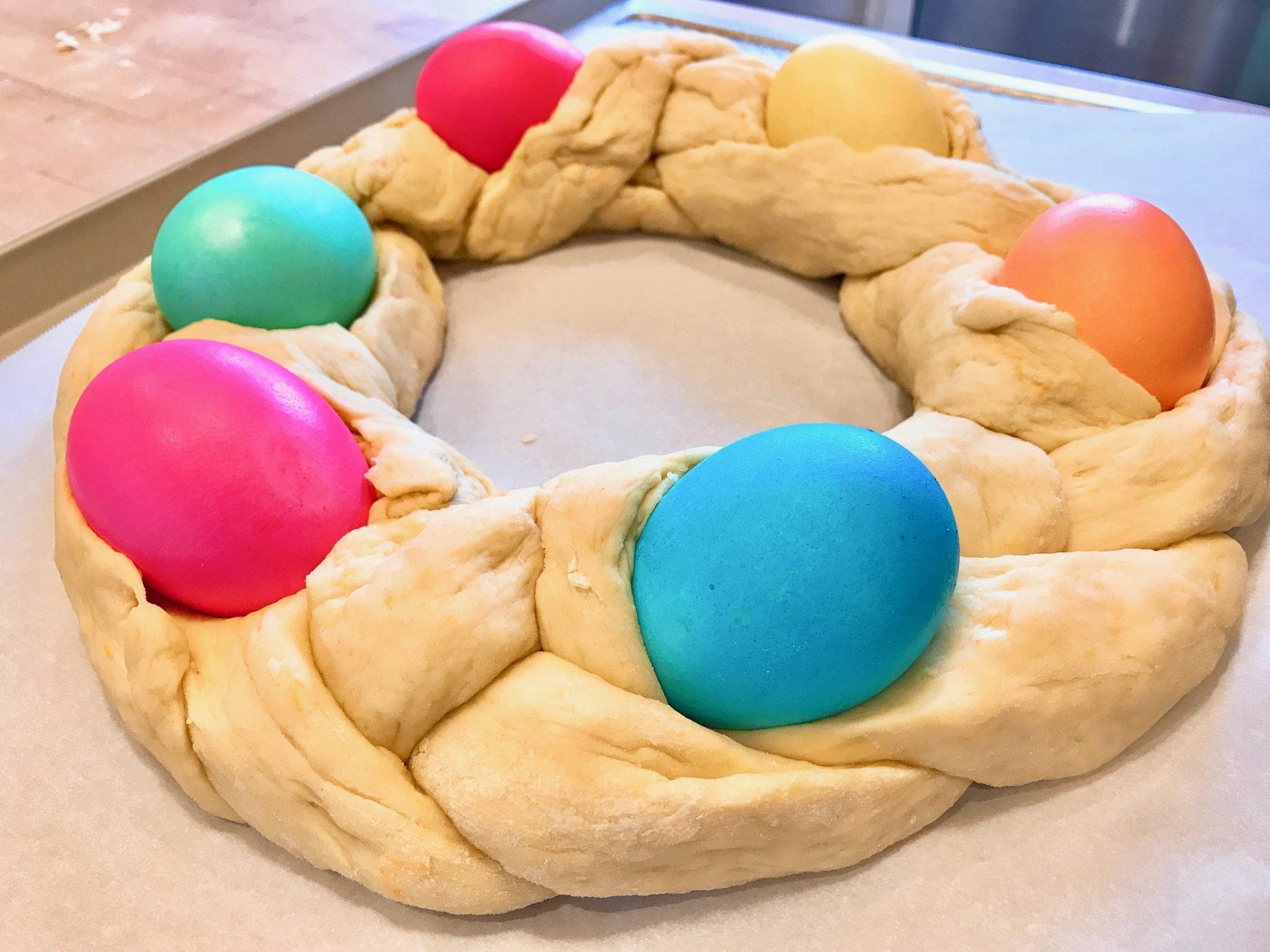 Italian Easter Bread unbaked
