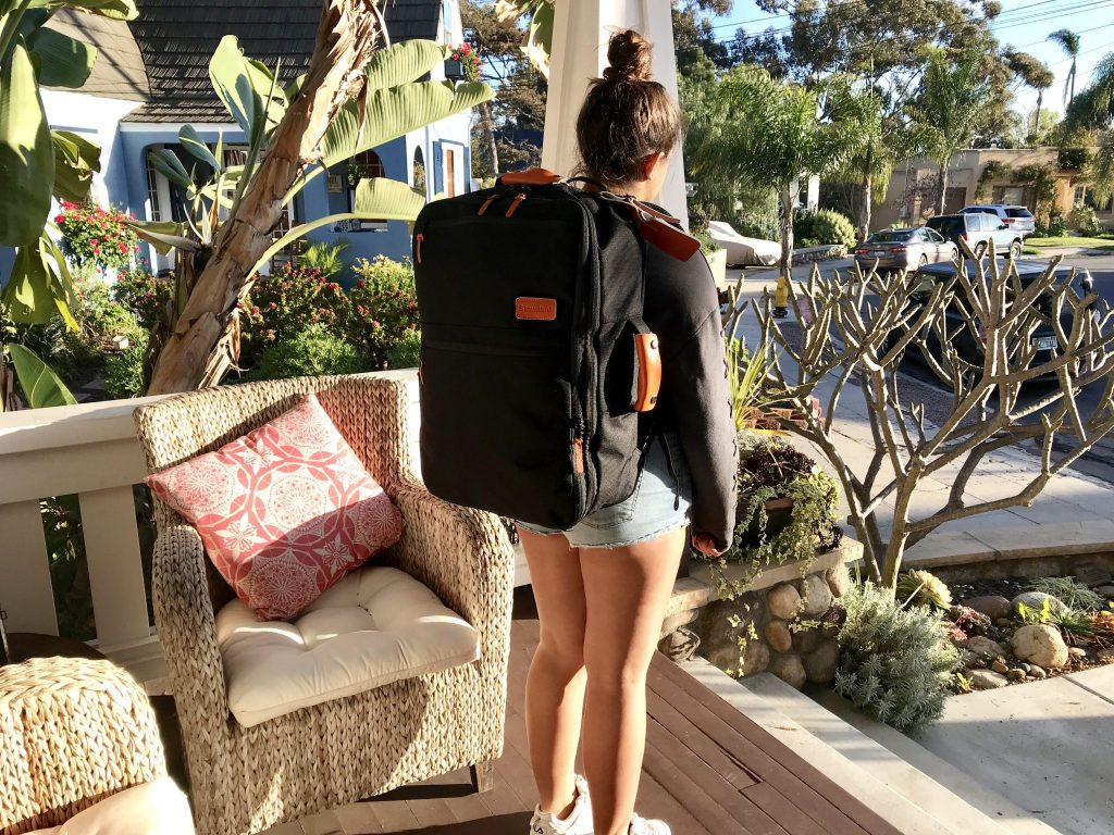 girl wearing Standard Luggage Carry-on Backpack