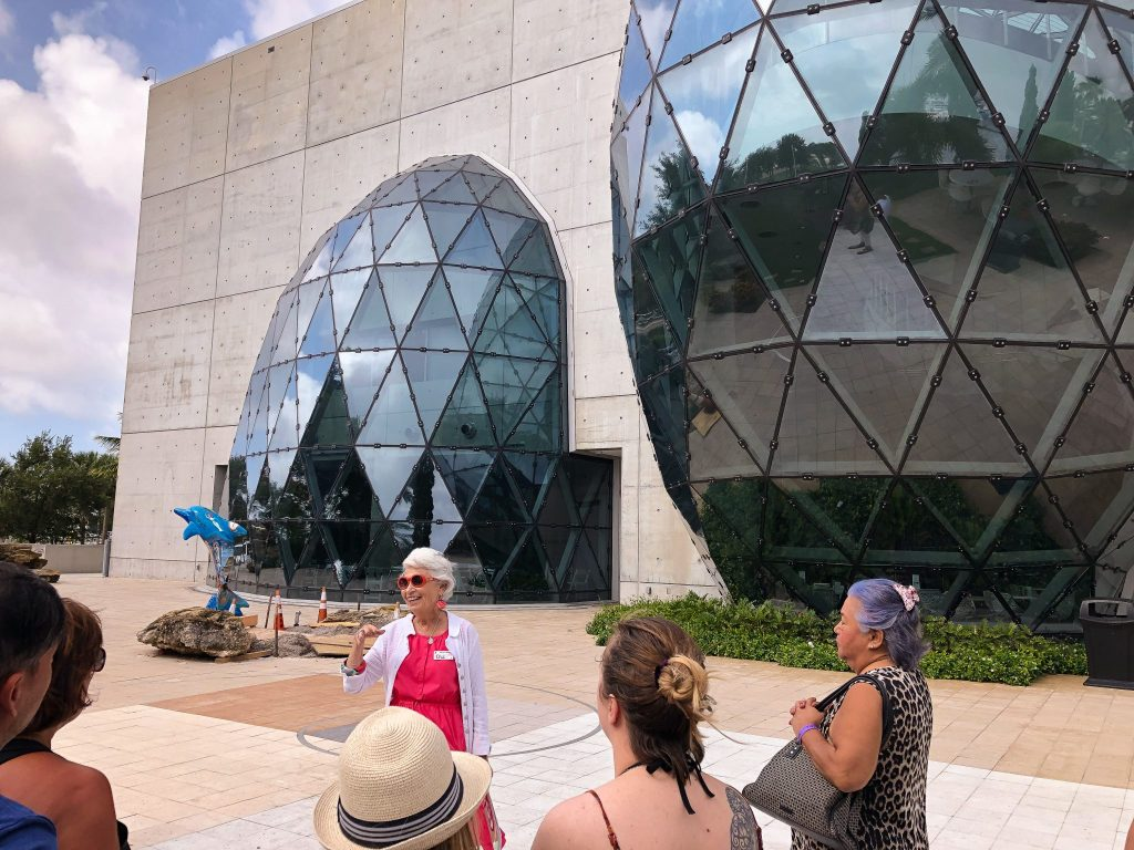 garden tour at Dali Museum