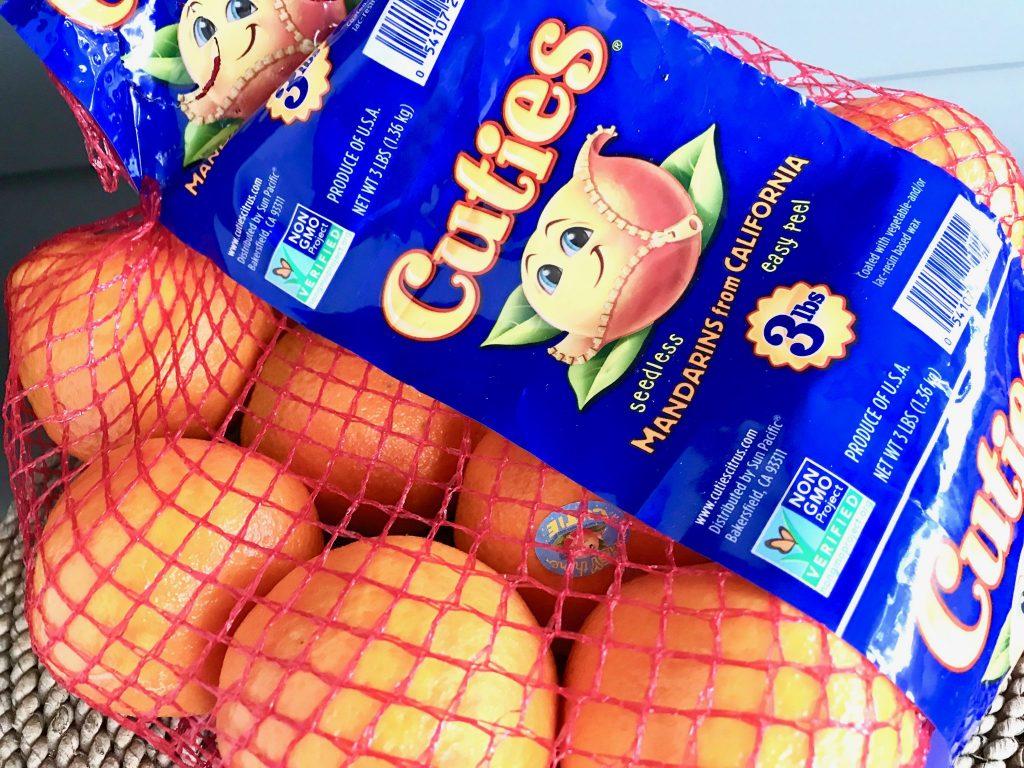 bag of Cuties mandarin oranges