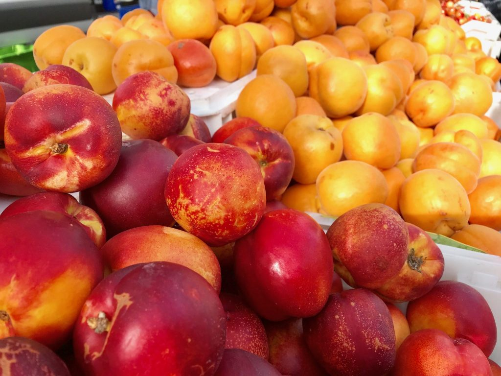farmers market plums and apricots