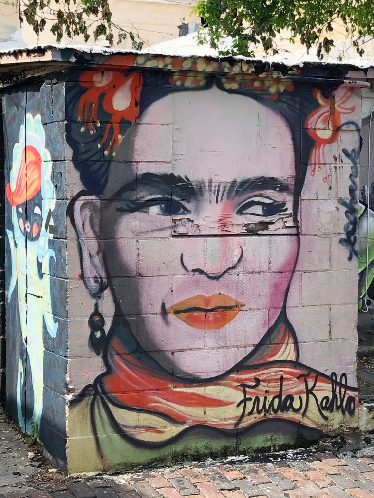 Walking mural tour St Petersburg Frida Kahlo