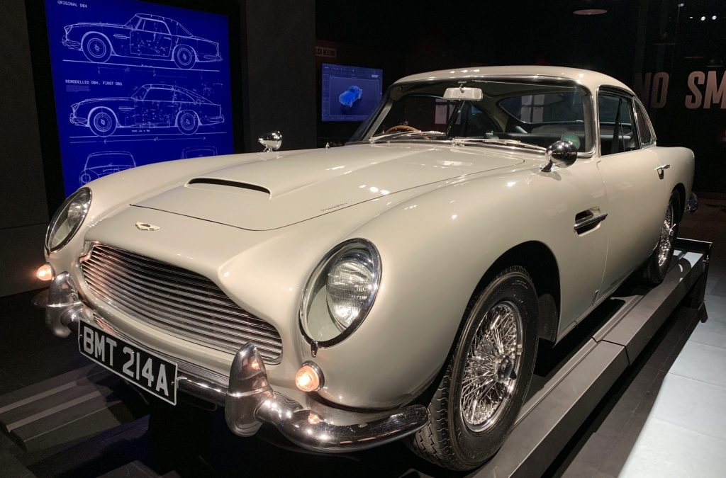 James Bond's Aston Martin DB5 at SPYSCAPE museum