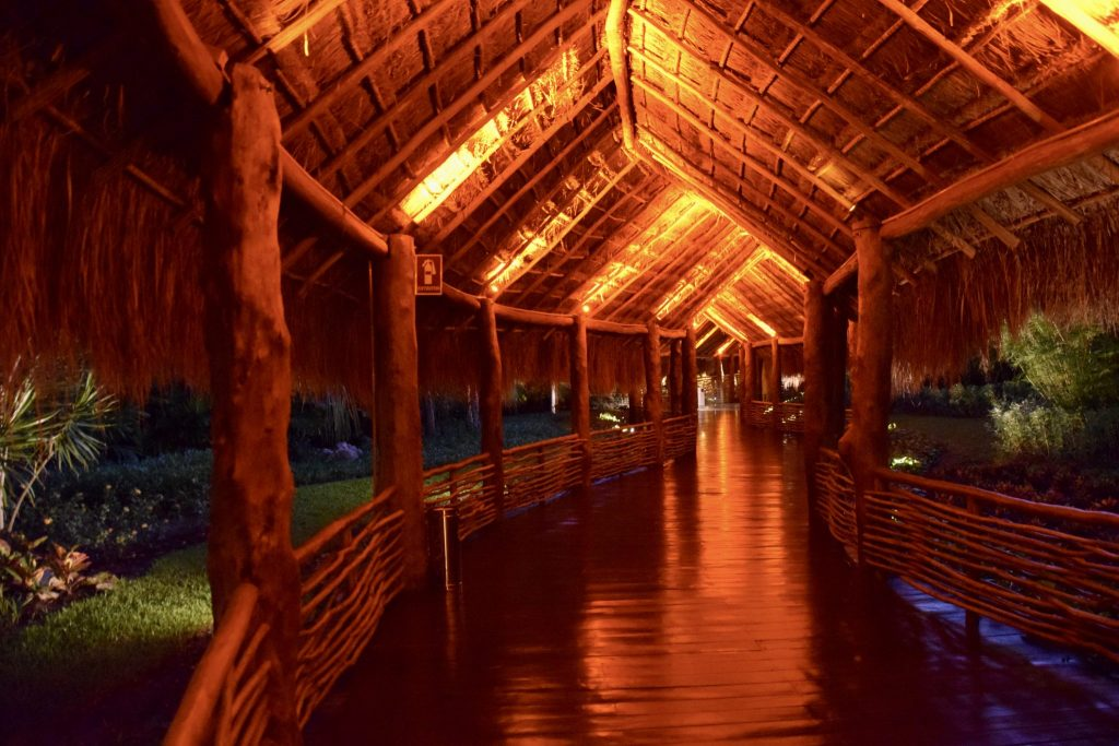 covered walkways at Grand Velas Riviera Maya.