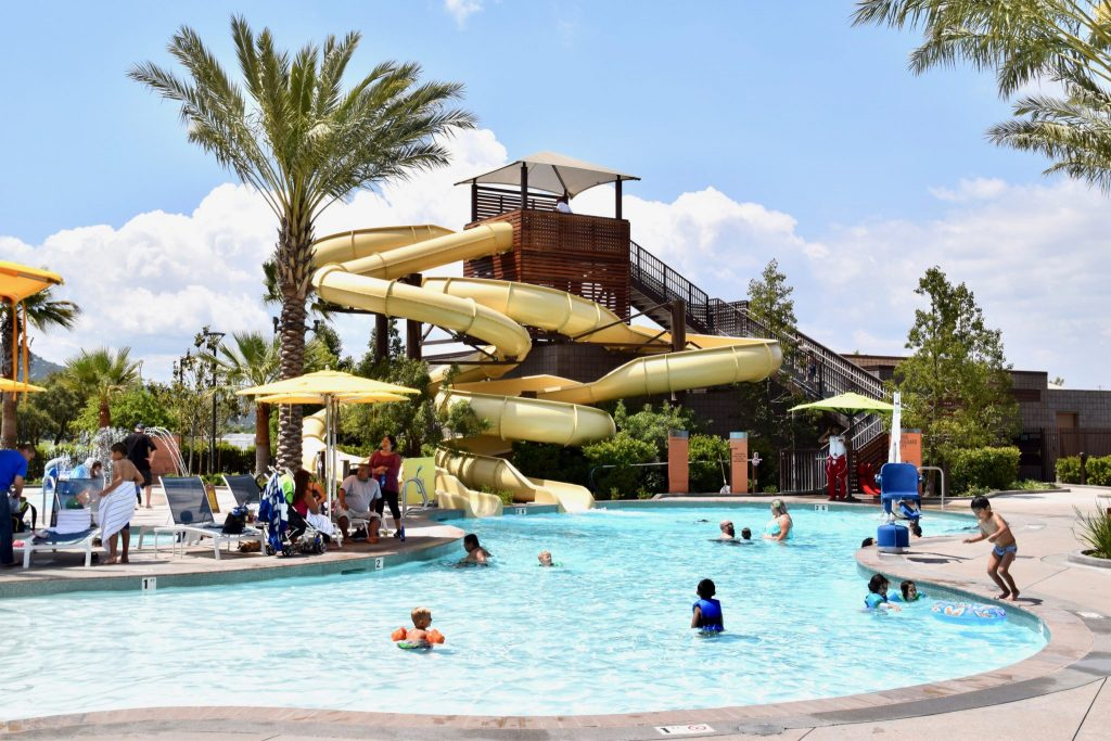 water slides at Pechanga Resort pool