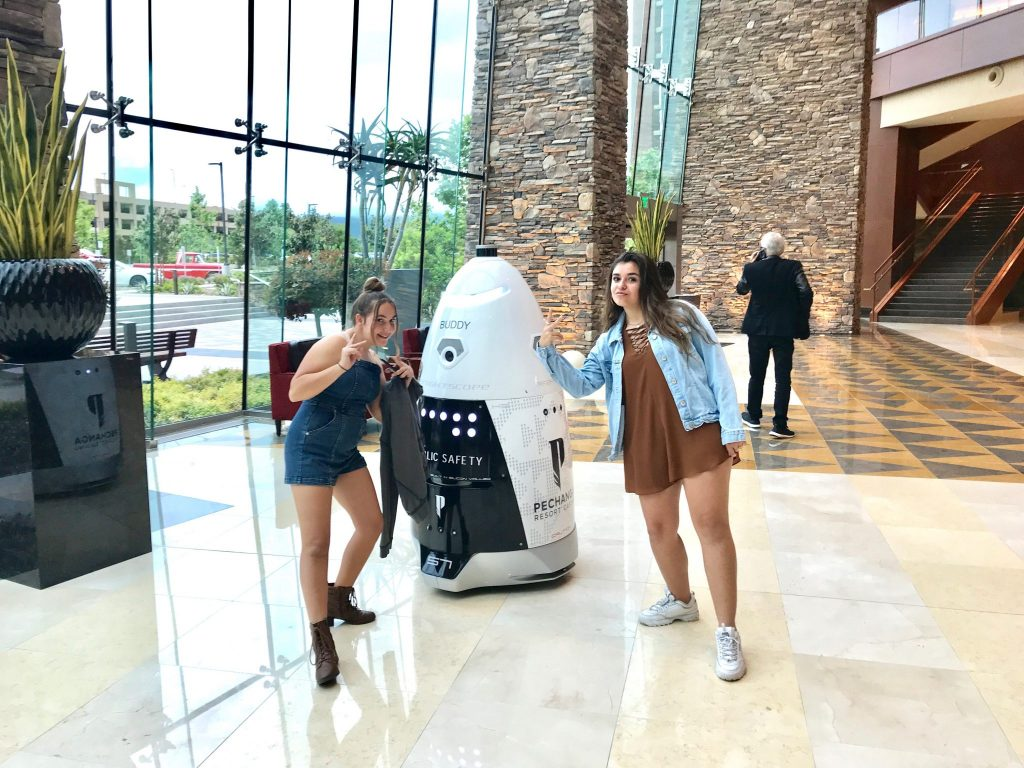 security robot at Pechanga Resort