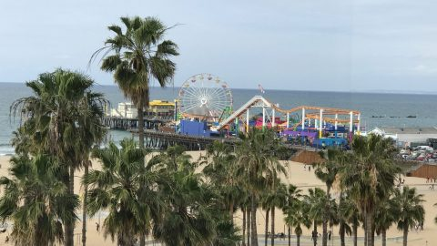 Santa Monica Pier from Loews Hotel view