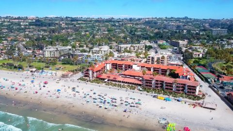 aerial view of La Jolla Shores Hotel