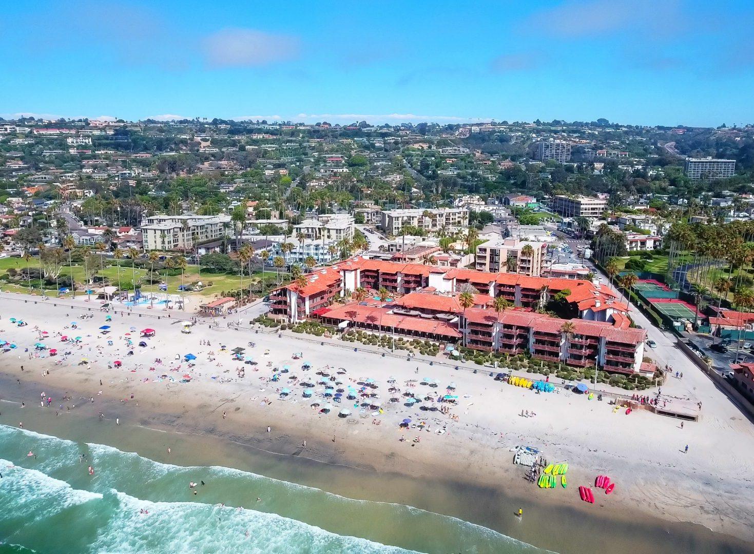 aerial view of La Jolla Shores Hotel