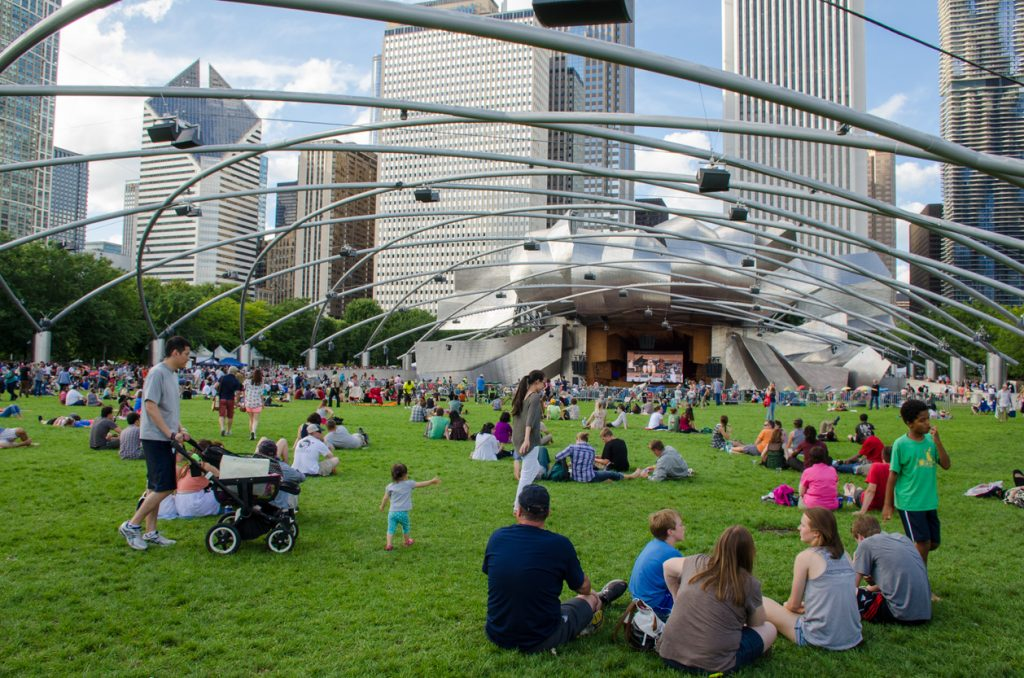 live concert in park in Chicago