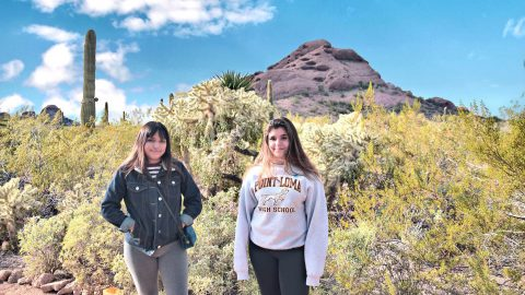 girls at Phoenix desert, arizona