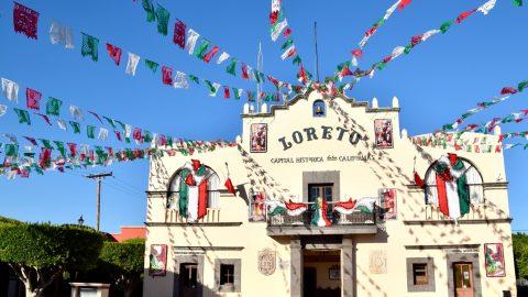 Town Square in Loreto, Mexico