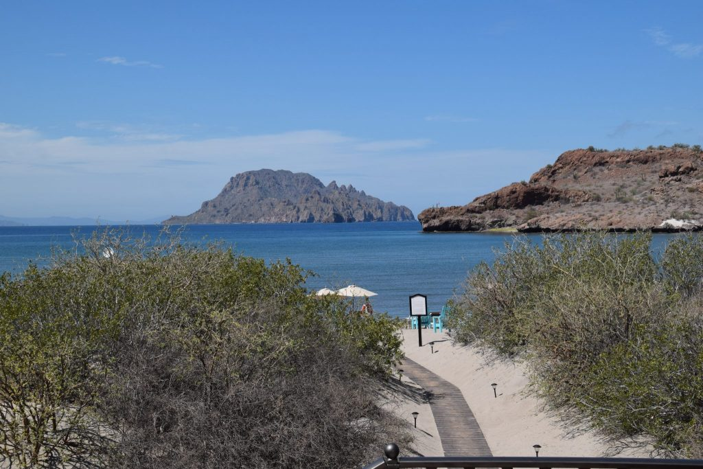trail to the beach at Villa del Palmar in Loreto, Mexico