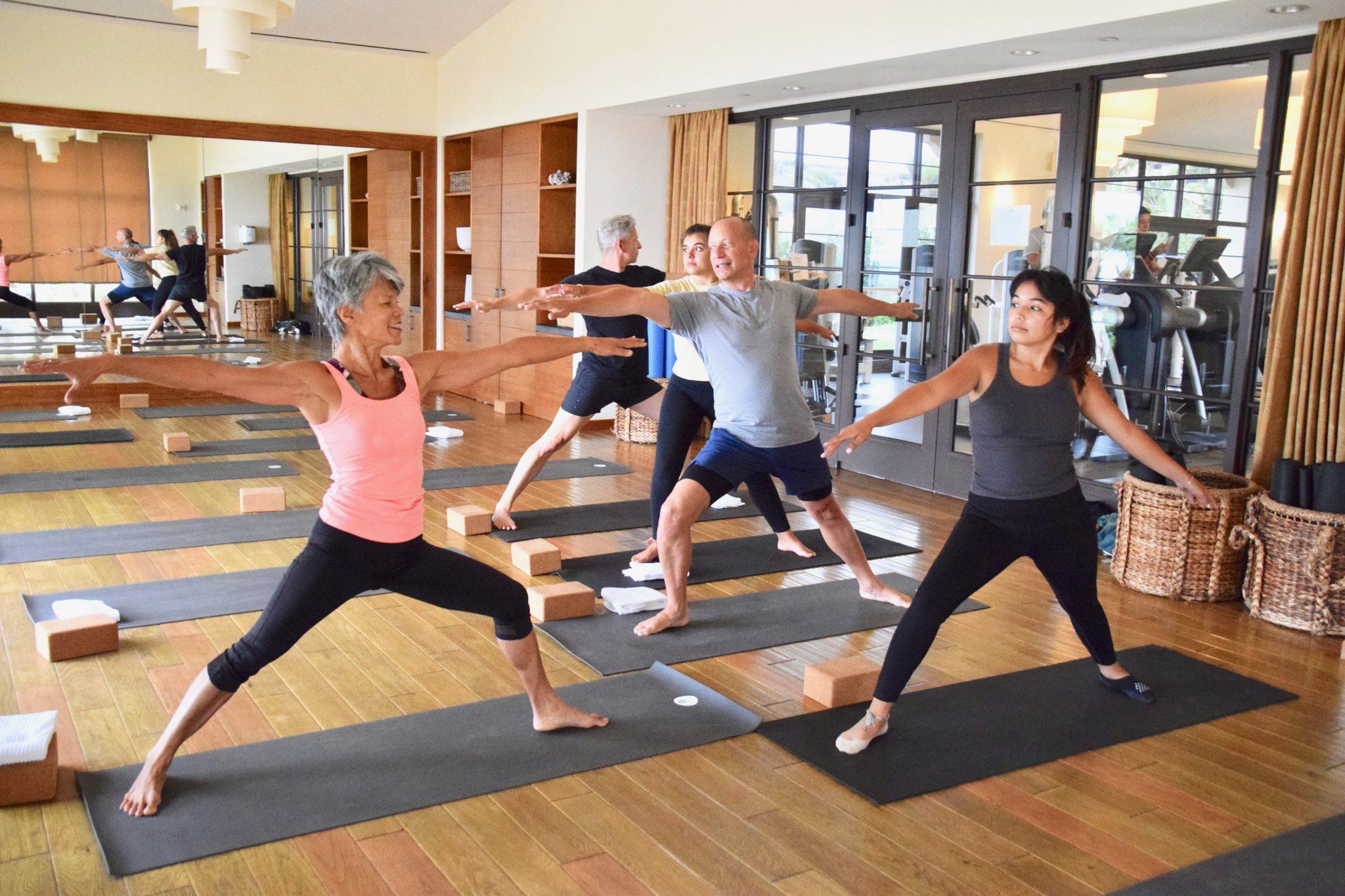 family yoga class at Terranea Resort & Spa