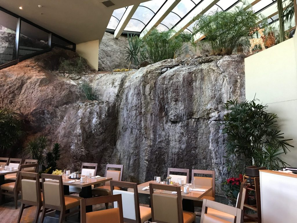 Phoenix Marriott Resort Tempe at The Buttes interior waterfall in Tempe, Arizona