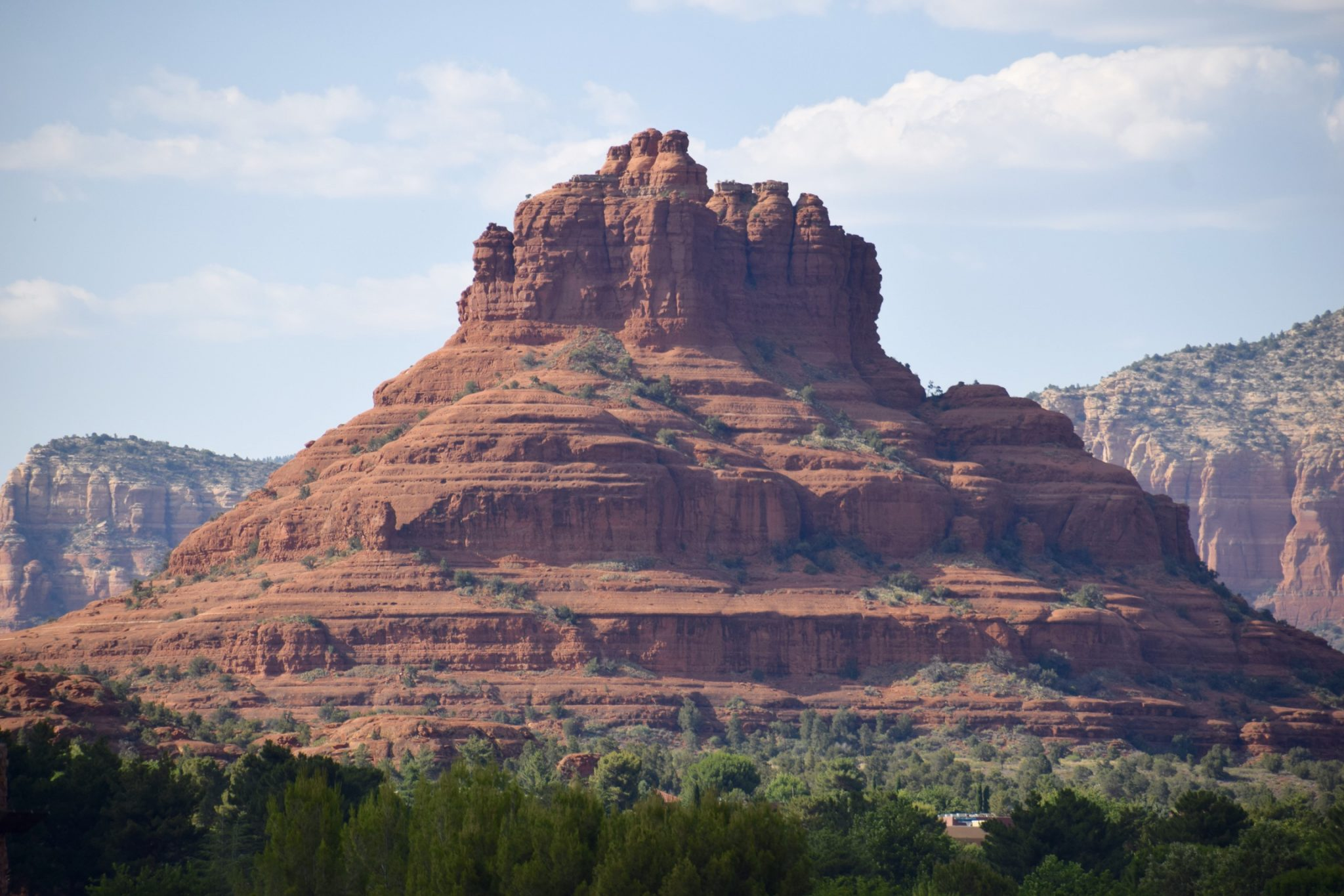 View from Hilton Hotel Bell Rock of Bell Rock in Sedona, Arizona