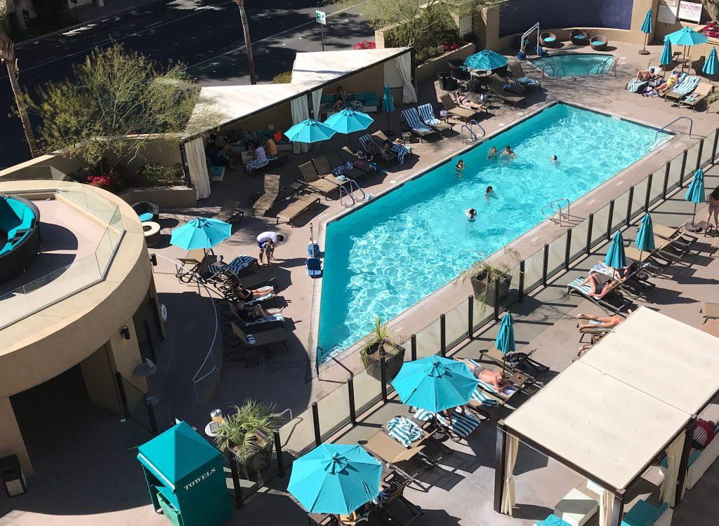 Pool area at Hyatt Hotel Palm Springs
