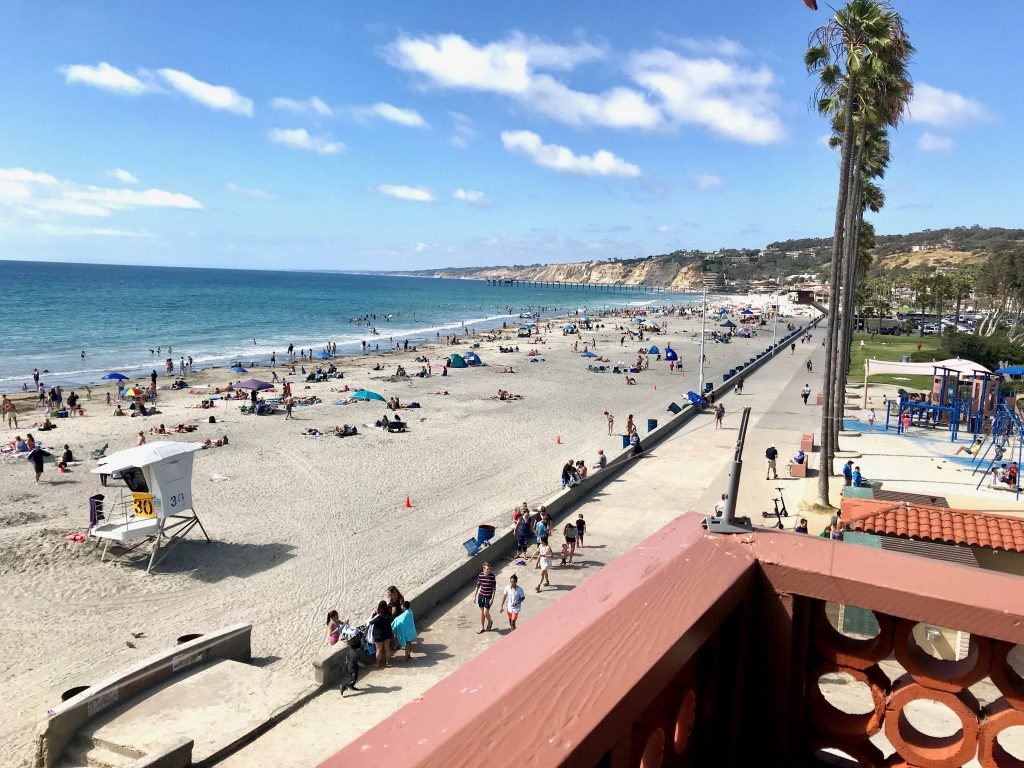 View from La Jolla Beach Resort looking north