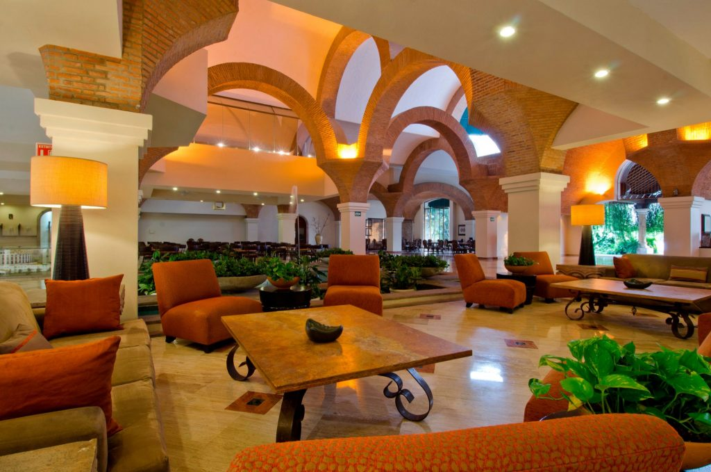 lobby of Vela Vallarta in Puerto Vallarta, Mexico
