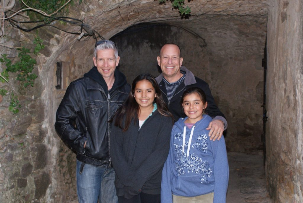 family with 2 dads visiting Spain