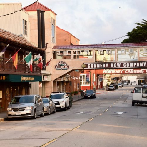 Downtown Cannery Row in Monterey, California