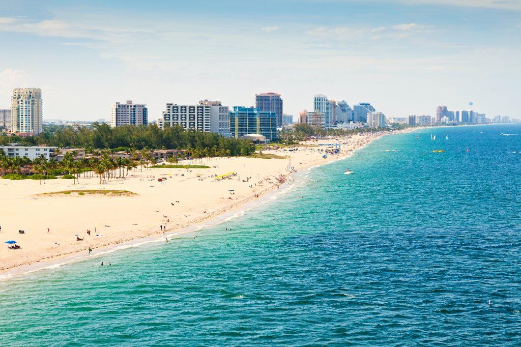Aerial view of Fort Lauderdale Beachi in Ft. Lauderdale, Florida