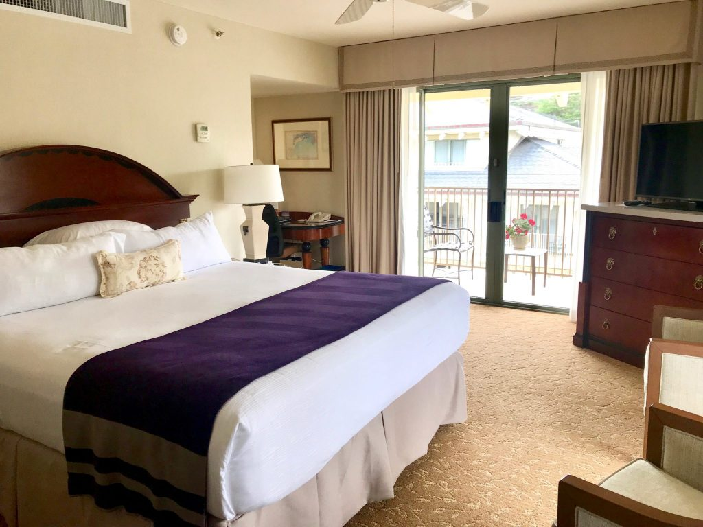 king bedroom at Monterey Plaza Hotel & Spa at Cannery Row