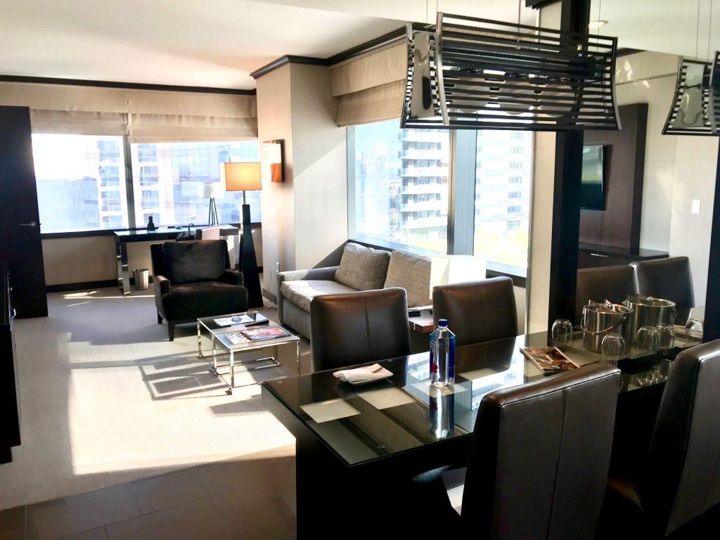 Vdara Hotel Las Vegas living room corner suite