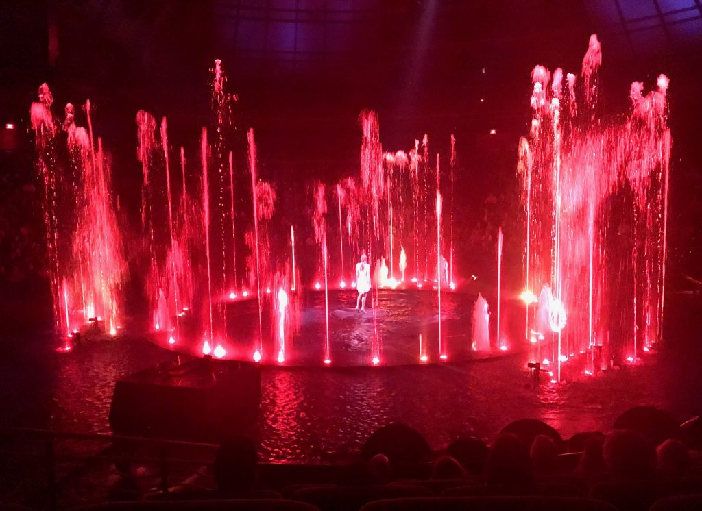 fire and water scene in Le Rêve The Dream show at Wynn Las Vegas