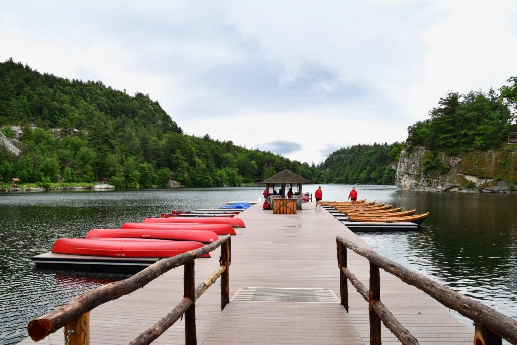 boat dock at Mohonk Mountain House, New York