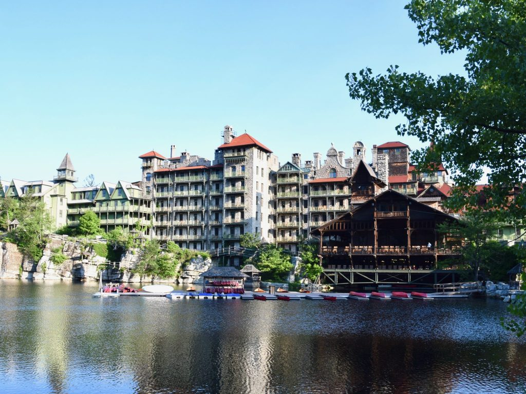 Mohonk Mountain House from across Mohonk Lake, New York