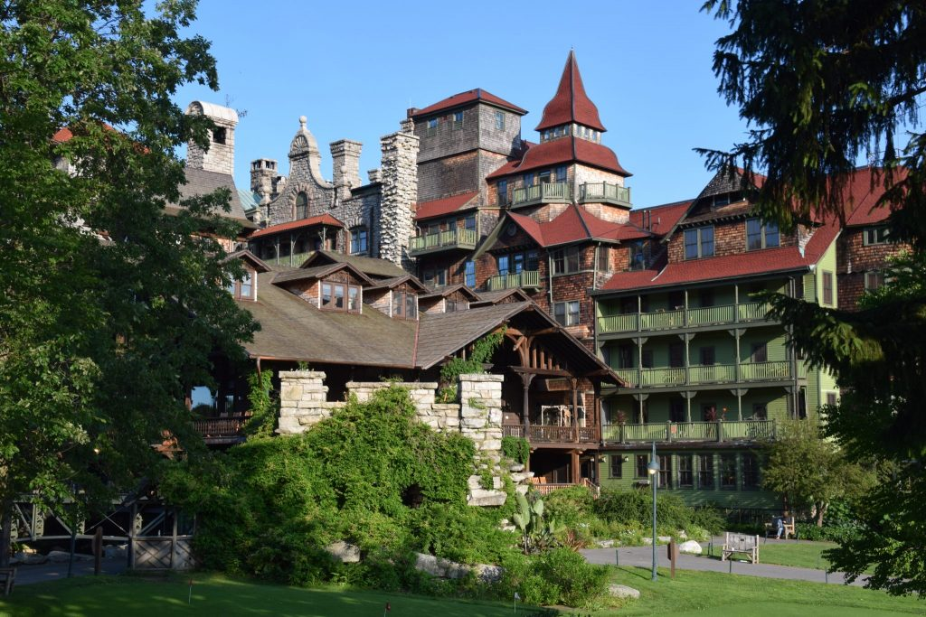 Victorian-style architecture at Mohonk Mountain House