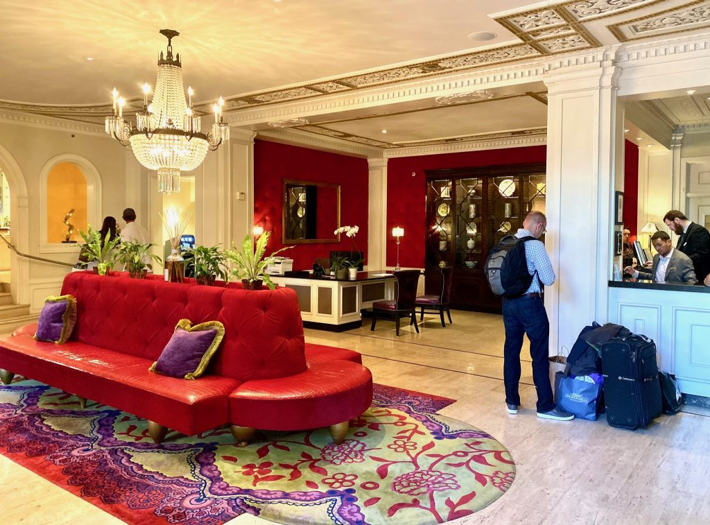 Lobby of the Huntington Hotel in San Francisco
