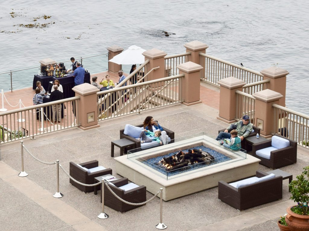 Monterey Plaza Hotel & Spa fire pit, Monterey, California