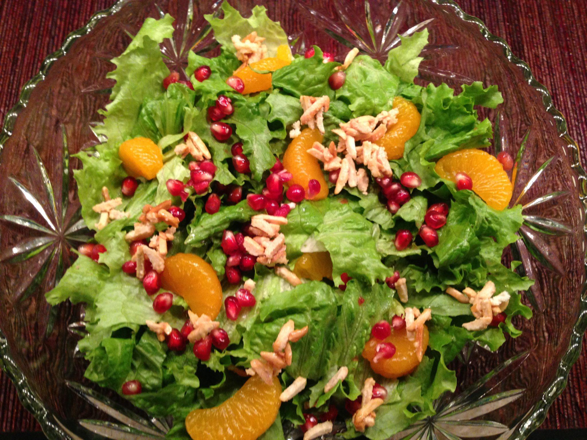 Pomegranate and Mandarin Orange Salad