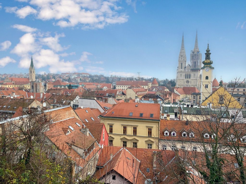 rooftop views in Zagreb, Croatia