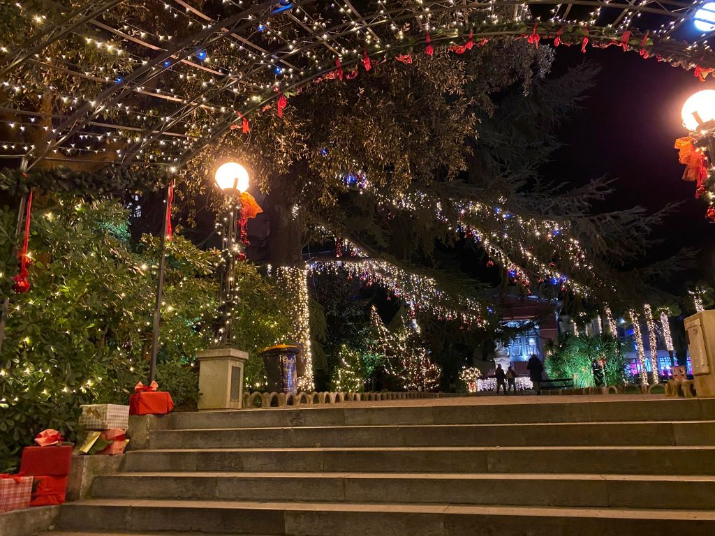 Christmas lights in Opatija, Croatia