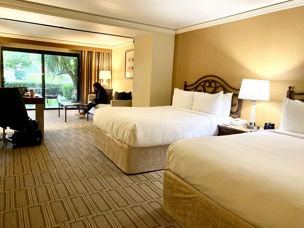 Junior suite bedroom at Miramonte Resort & Spa