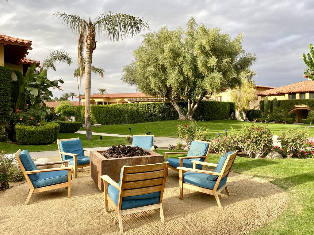 fire pit and landscaping at Miramonte Resort & Spa, Indian Wells, CA