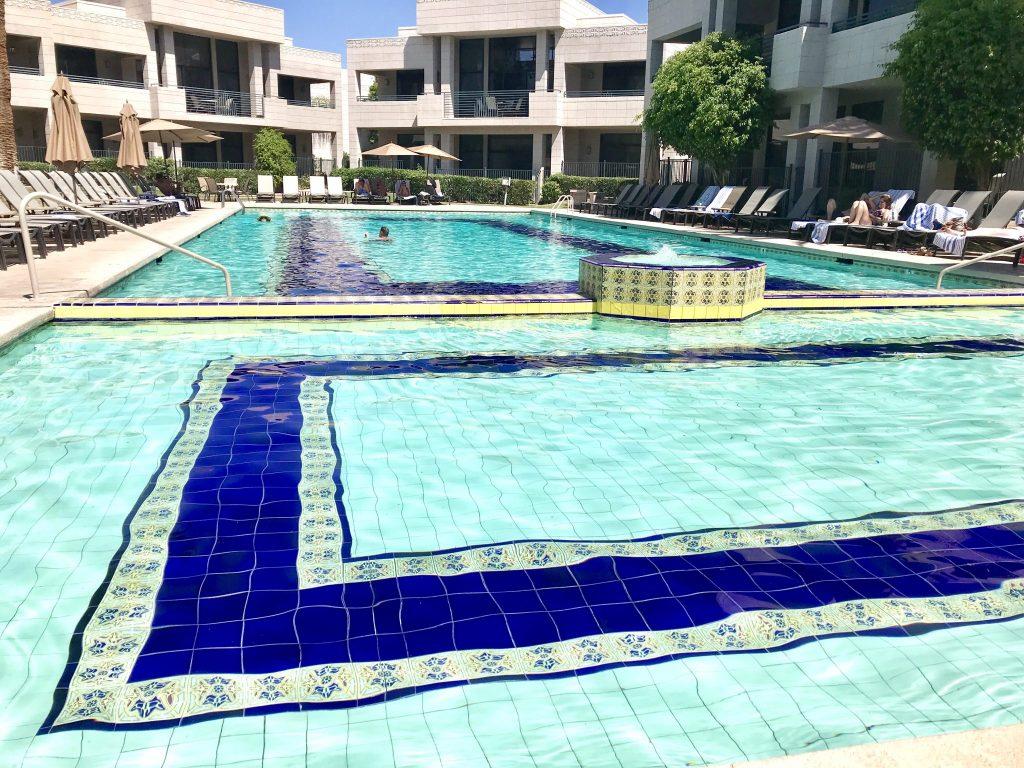 Catalina Pool with famous tile work at Arizona Biltmore Resort
