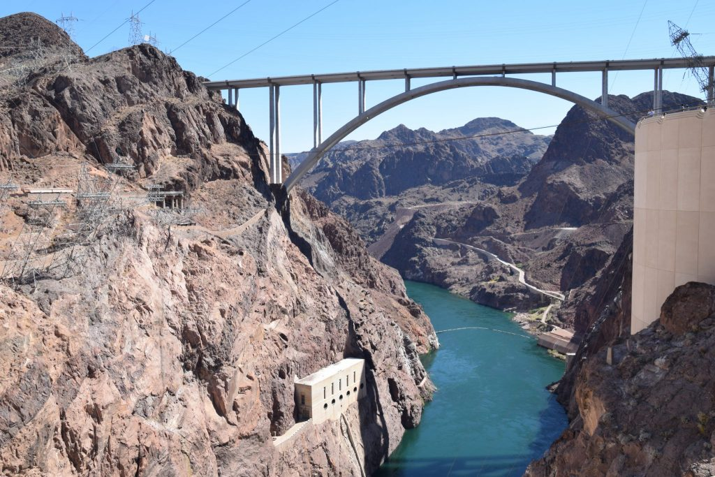 Bridge span over the Colorado River at Hoover Dam
