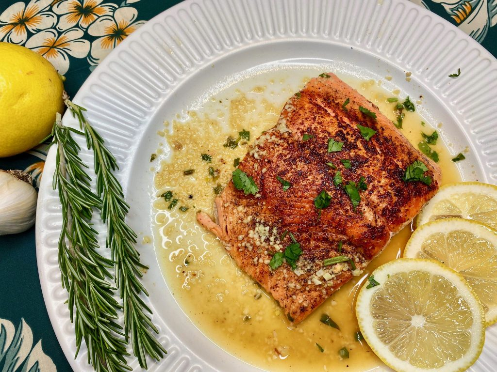 Creole Salmon Filets in Lemon Garlic SauceRecipe