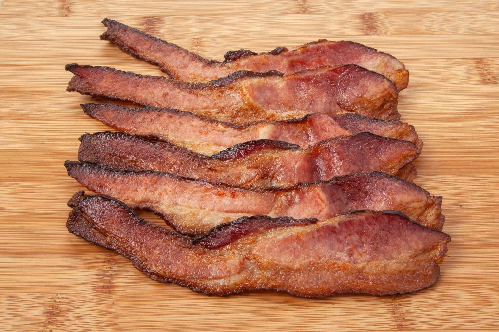 Niman Ranch cooked bacon slices