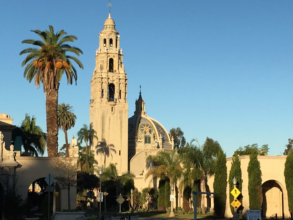 California Tower and San Diego Museum of Man in Balboa Park, San Diego, CA
